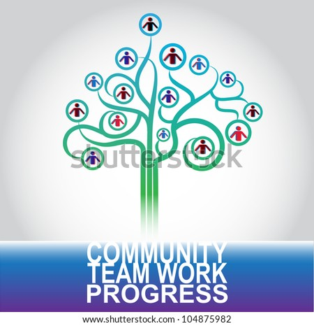 business community concept illustration