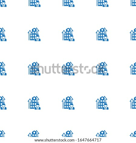 Business Company icon pattern seamless isolated on white background. Editable filled Business Company icon. Business Company icon pattern for web and mobile.