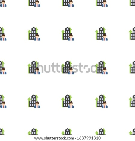 Business Company icon pattern seamless isolated on white background. Editable flat Business Company icon. Business Company icon pattern for web and mobile.
