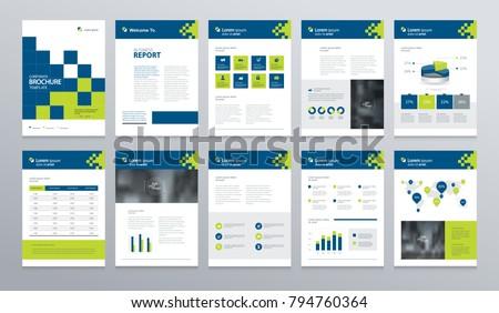 company annual report business brochure design template download