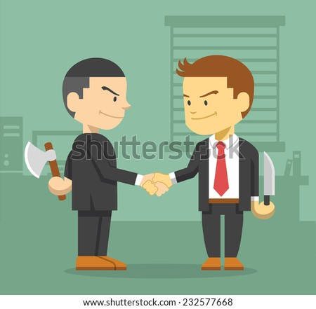Business competition concept. Vector flat illustration