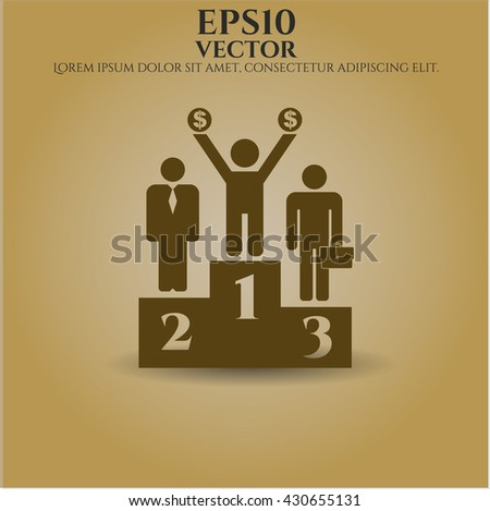 Business Competition (podium) vector icon