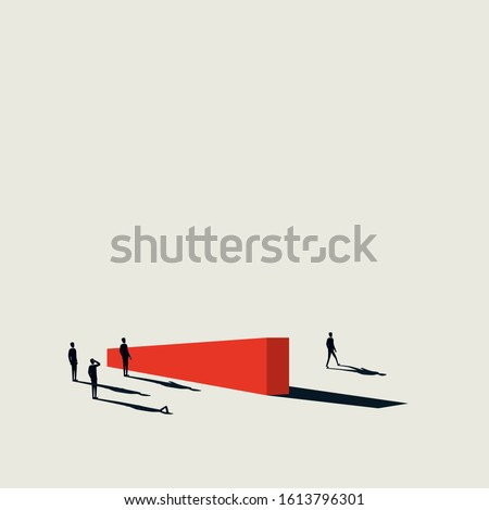Business competition vector concept with businessman leaving competitors behind. Symbol of winning, leadership and success. Ambition and motivation concept. Eps10 illustration.