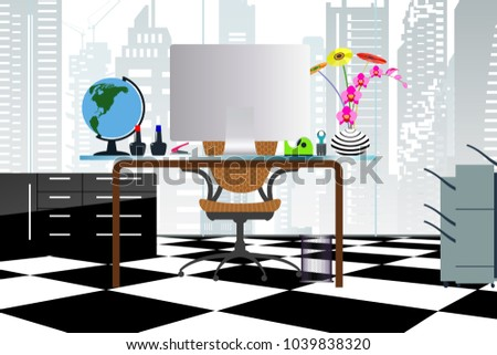 business concept a desktop at