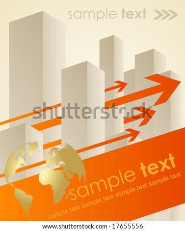 business concept background - vector illustration