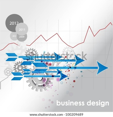business concept design with arrows and gears
