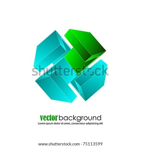 business concept design with 3d arrows-vector