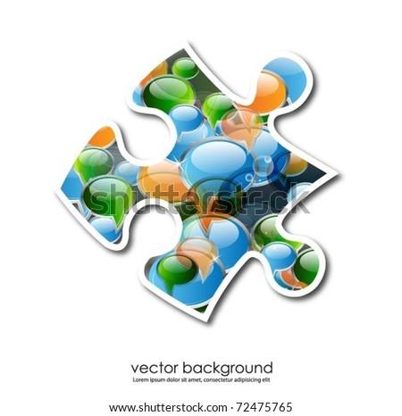 business concept design with puzzle piece