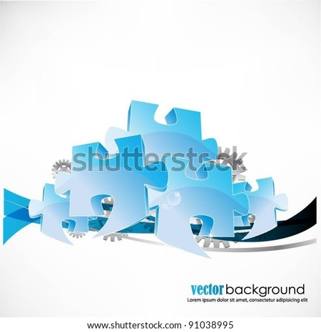 business concept design with puzzle pieces