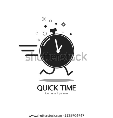 Business concept. Fast time icon logo design element. Vector illustration