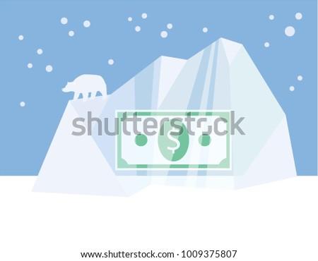 business concept for frozen
