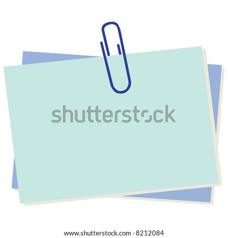Business concept: Illustration of note paper