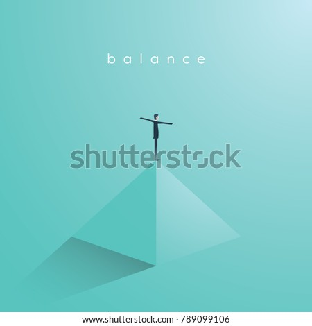 Business concept of balance, vector illustration. Symbol of work life balance, equality, stability. Eps10 vector illustration.