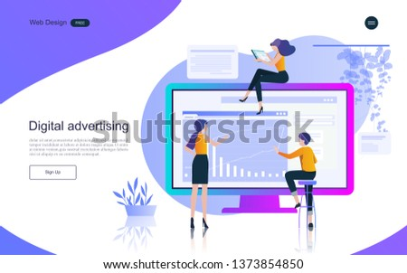 Business concept of marketing and teamwork for banner and website, landing page.Business analysis, stategy and planning.Vector illustration.