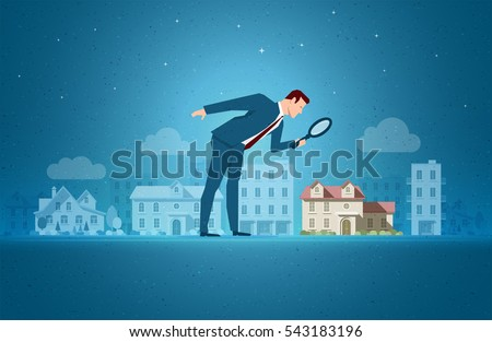 Business concept vector illustration. Investing, real estate, investment opportunity concept. Elements are layered separately in vector file.