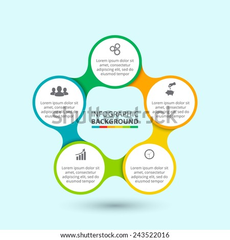 business concept with 5 options