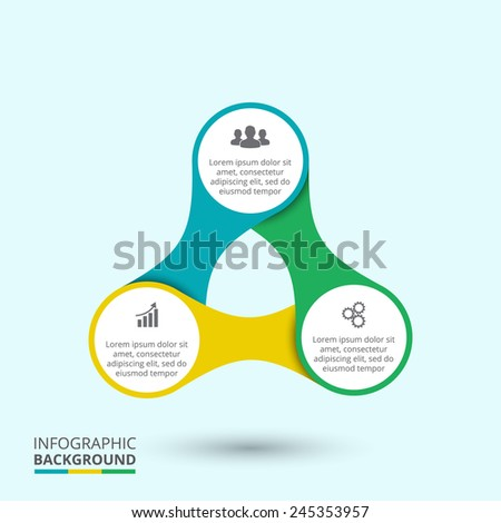 Business concept with 3 options, parts, steps or processes. Template for diagram, graph, presentation and chart.