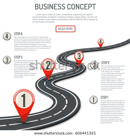 business concept with progress
