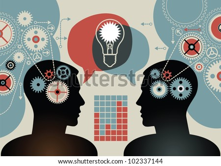 business concepts. the concept of human intelligence. people has an idea. Brain storming.