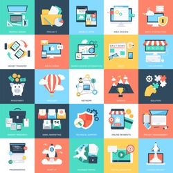 Business Concepts Vector Icons 1