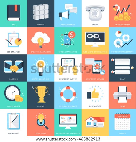 Business Concepts Vector Icons 4