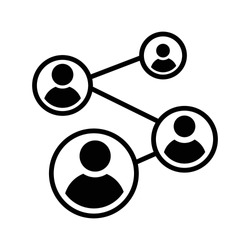 Business connection icon vector.friends icon vector.