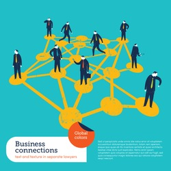 Business Connections. Vector illustration Eps10 file. Global colors. Text and Texture in separate layers.