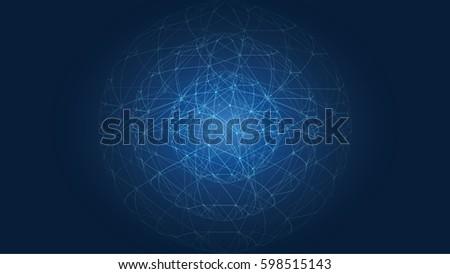 Business connexion blue Background Photo stock ©