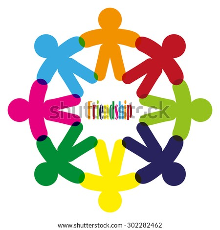 Business Corporate Abstract people unite friendship logo , human company vector emblem