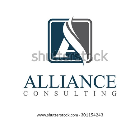 Business Corporate Letter A Logo Design Vector Colorful