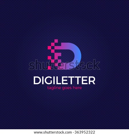 business corporate letter d logo design vector colorful
