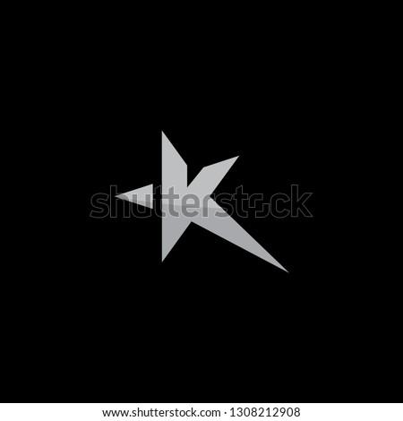 Business corporate letter K form stars design. Letter K for technology design. Vector illustration EPS.8 EPS.10 Stock fotó ©