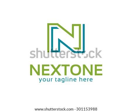 business corporate letter n logo design vector colorful letter n logo vector template letter