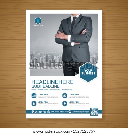 Business cover a4 template for a report and brochure design, flyer, banner, leaflets decoration for printing and presentation vector illustration