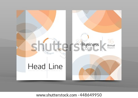 Business cover page design, brochure flyer layout, abstract presentation background poster, A4 size #448649950