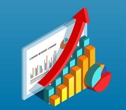 Business data diagram