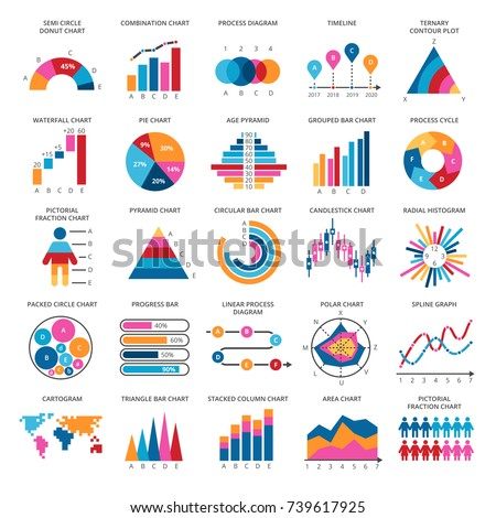 Business data graphs. Vector financial and marketing charts. Illustration of data financial graph and diagram Stock photo ©