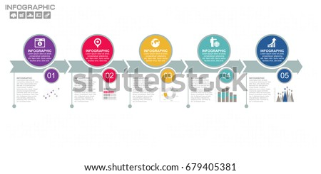 Business data Process chart. Diagram with steps, options, parts or processes. business template for presentation. Abstract elements of graph, Creative concept for infographic.