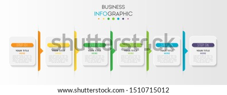 Business data visualization infographic. Process chart. Abstract elements of graph, diagram with option steps, parts or processes. Vector Template