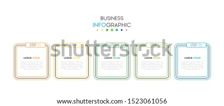 Business data visualization infographic. Process chart. Abstract elements of graph, diagram with steps, options, parts or processes. Vector Template