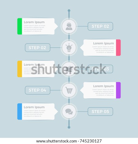 Business data visualization. Process chart. Abstract elements of graph, diagram with steps, options, parts or processes. Vector business template for presentation. Creative concept for info graphic