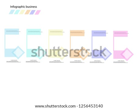 Business data visualization. Process chart. Abstract elements of graph,Vector business template for presentation. Creative concept for infographic.Pastel color.