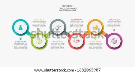 Business data visualization. timeline infographic icons designed for abstract background template  Сток-фото ©