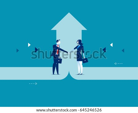 Business deal. Concept business success vector illustration.