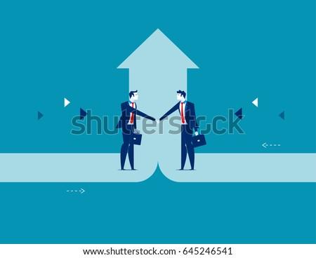 Business deal. Concept business success vector illustration.