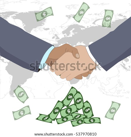 business deal. shaking hands. vector