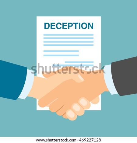 business deception handshake