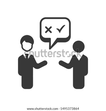 Business Decision Making Icon. vector template