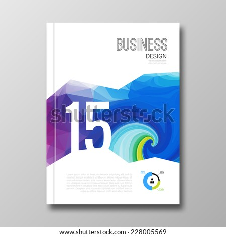 Business design background Cover Magazine geometric shapes info-graphic vector illustration