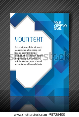 Business design template. Vector.